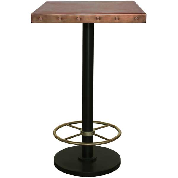 Bistro bar table with copper toppper pub tablepper bar table watchthetrailerfo