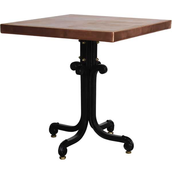 Bistro Table with Copper or Brass Top (Square). Copper ...